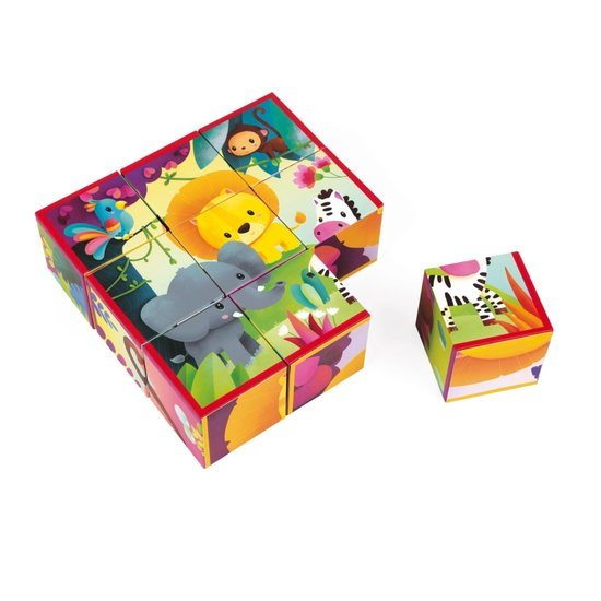 Kubkid 9 cubes animaux de la jungle