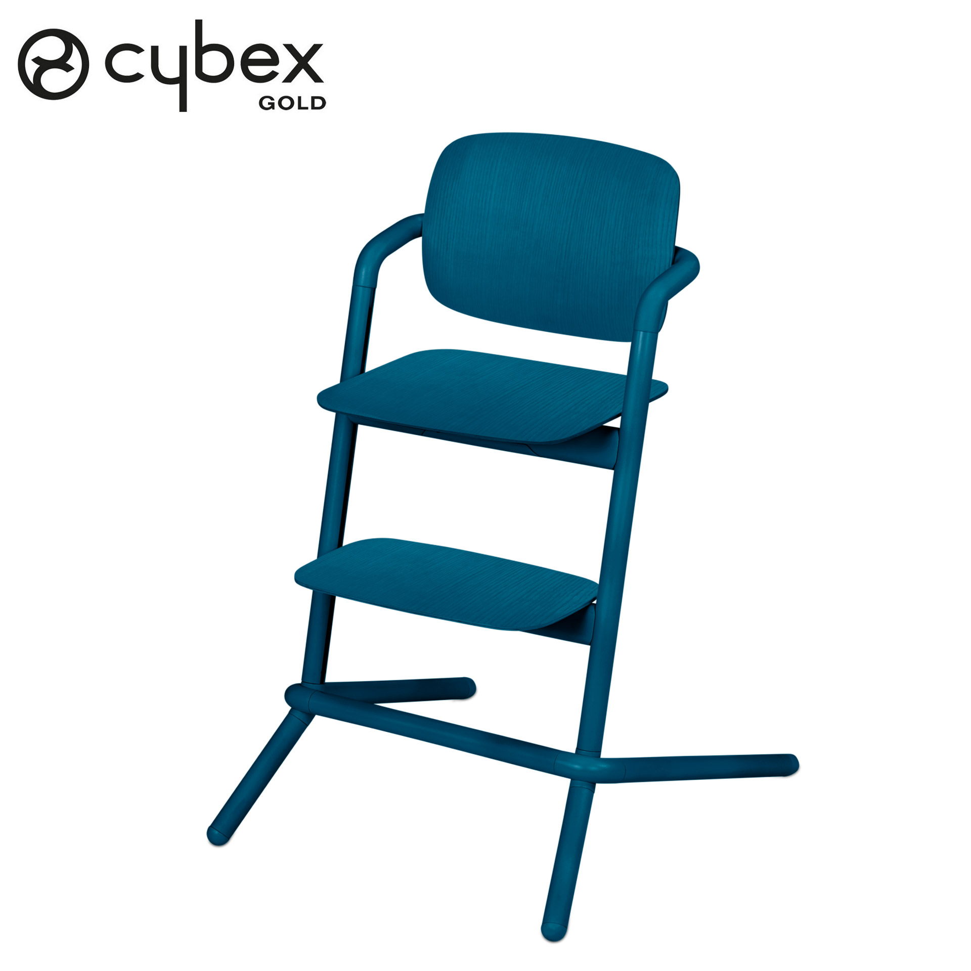 Chaise haute Lemo Bois Twilight blue  de Cybex
