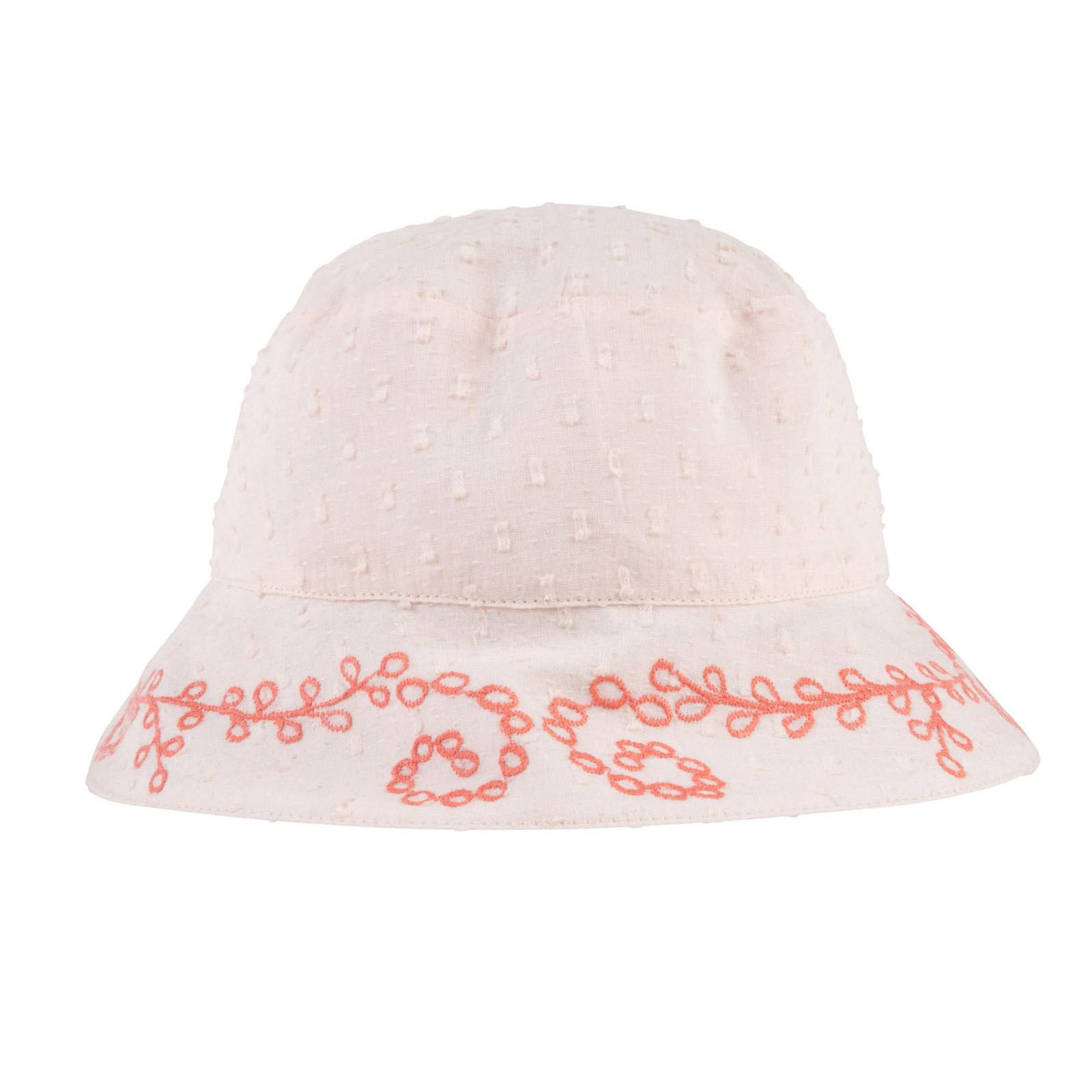 Chapeau plumetis brodé Rose  de Carrément Beau