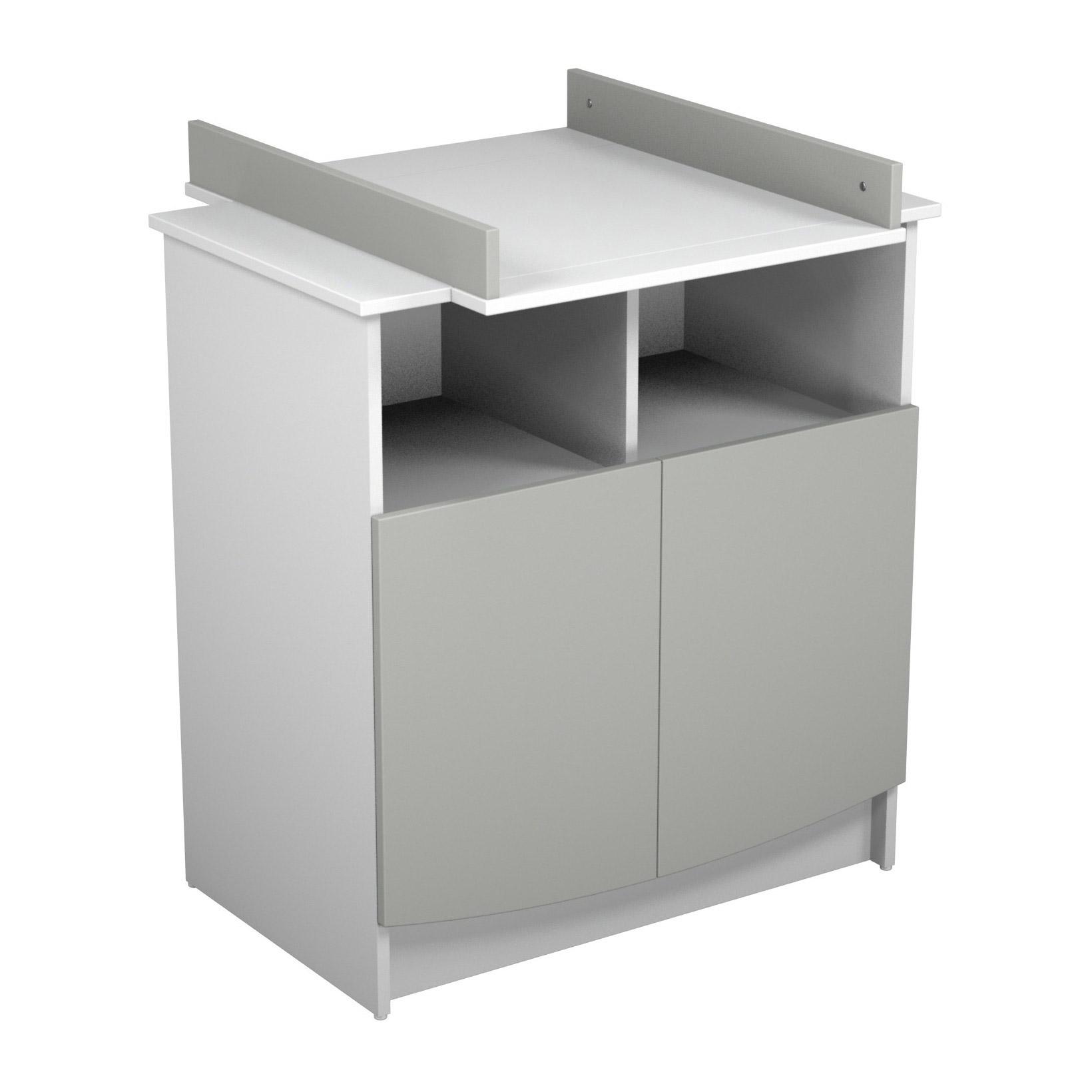 Primo Duo commode 2 portes Gris / Blanc  de Jurababy