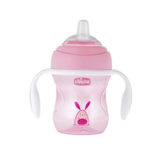 Tasse Transition bec souple  Rose 4M+ de Chicco