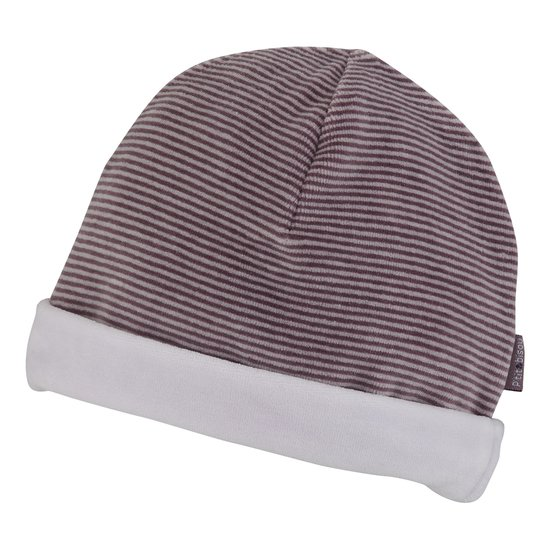 Bonnet velours collection Petit Cocon Prune  de P'tit bisou