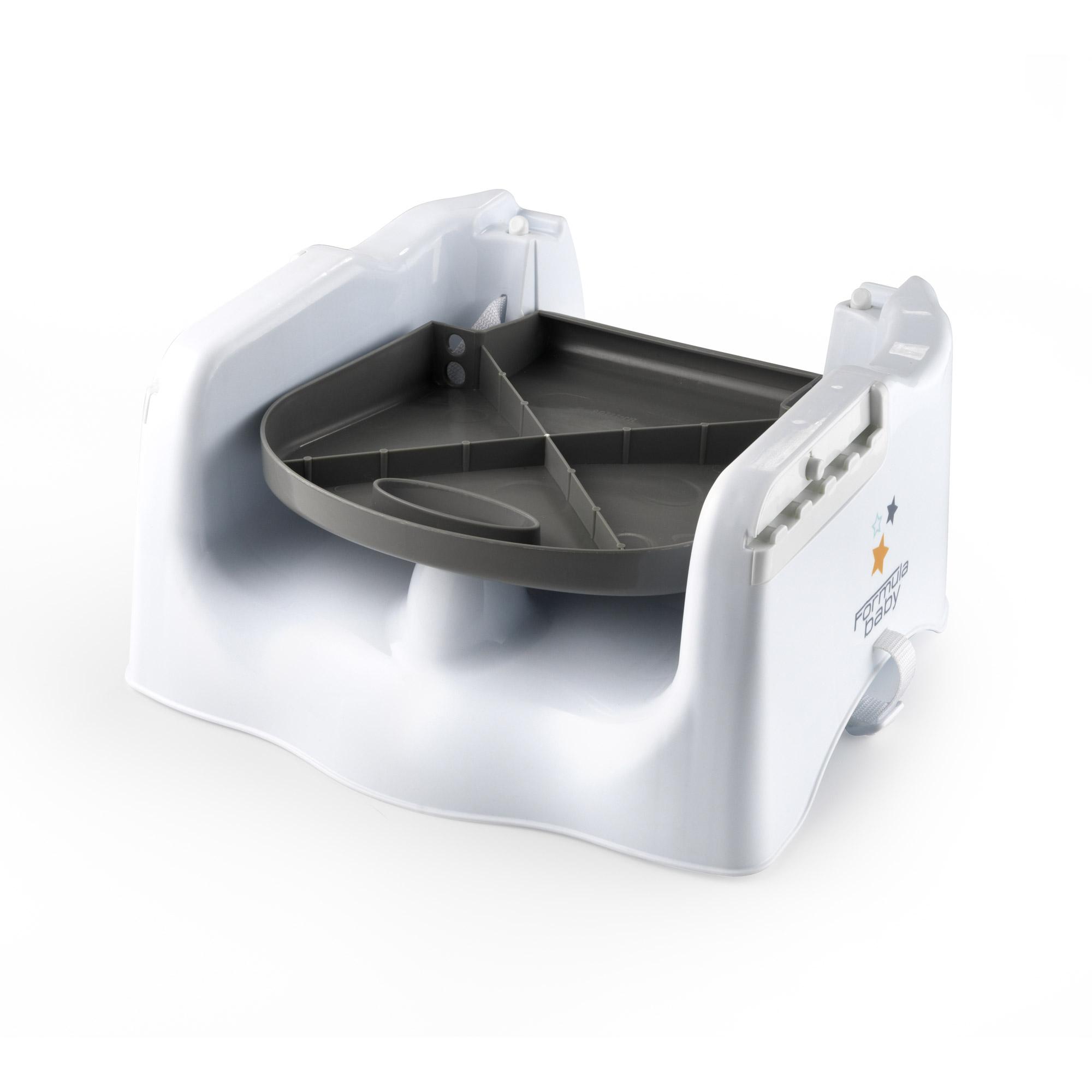 Rehausseur de chaise blanc de formula baby r hausseurs aubert - Rehausseur de chaise aubert ...