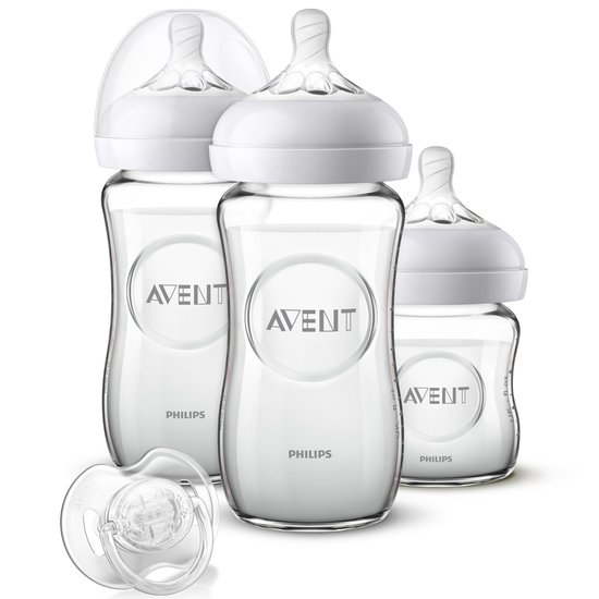 Kit nouveau-né Natural 2.0 en verre  125ML/240 ML de Philips AVENT