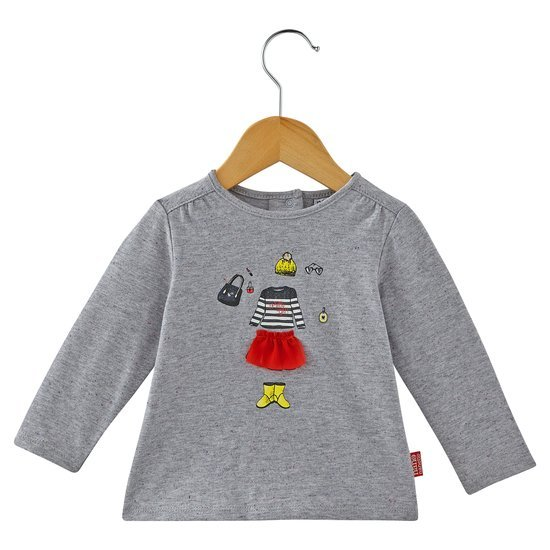 T-shirt collection Manhattan Walk Fille Gris  de Nano & nanette