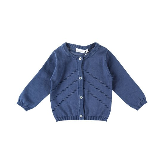 Cardigan collection Bord de mer Fille Bleu  de Noukies