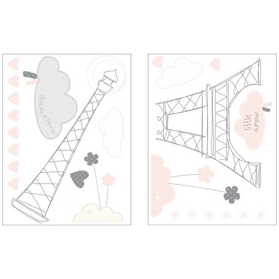 Lilibelle stickers muraux nuage 60x80
