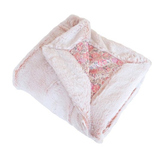 Lapinou couverture snow doublée Rose  de Domiva