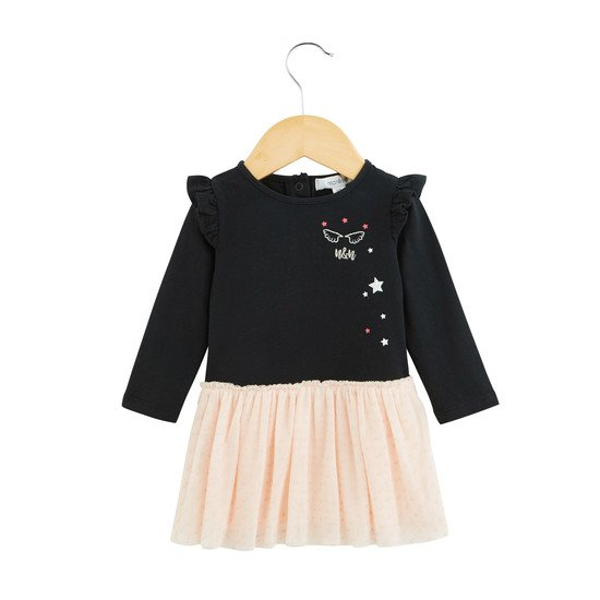 Robe Fille Bicolore Collection Portobello Noir car/rose   de Marèse