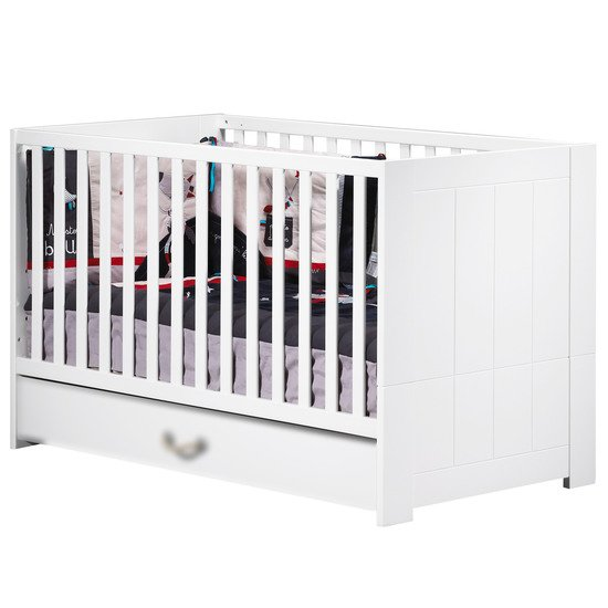 Seaside Little Big Bed 70x140 Blanc 70x140 de Sauthon Baby's Sweet Home
