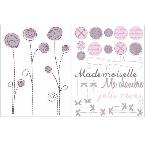 Poème Stickers Repositionnables Violet