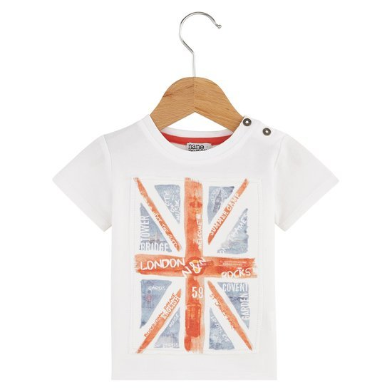 T-shirt drapeau collection English Summer Camp Garçon Blanc Windsor  de Nano & nanette