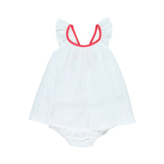 Set robe + bloomer collection Peps Girl Blanc  de Noukies