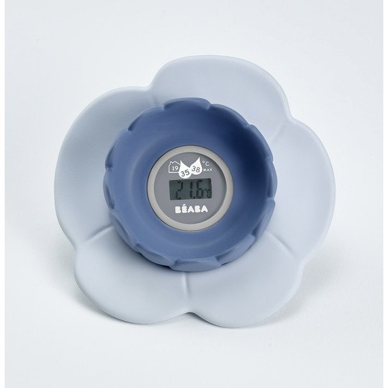 Thermomètre de bain Lotus Grey/Blue  de Beaba