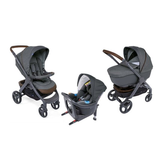 Trio StyleGo Up i-Size Bebecare  Cool Grey  de Chicco