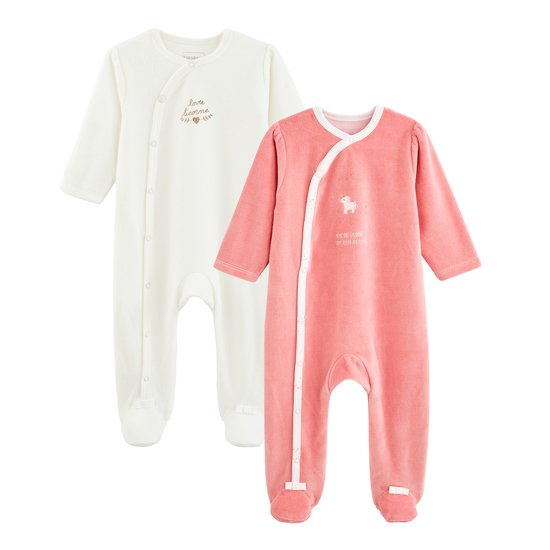 Licorne lot 2 pyjamas Rose praline  de P'tit Bisou Trousseau