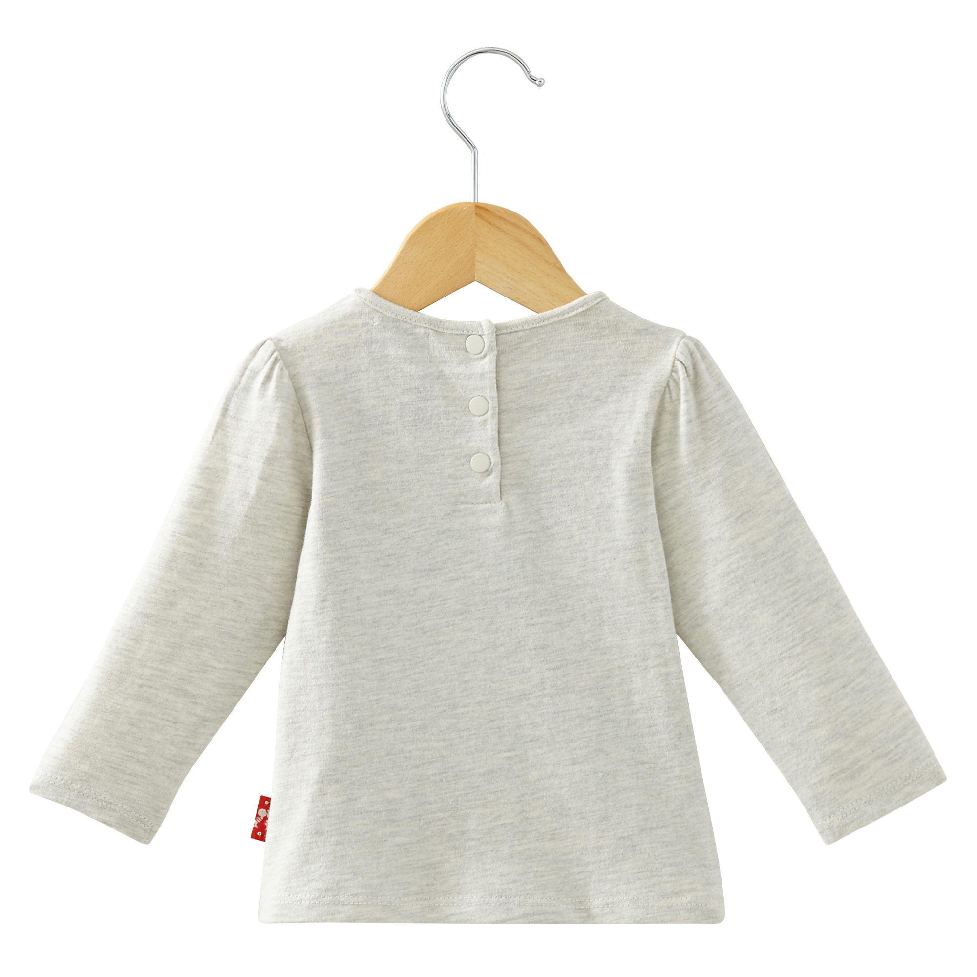 T-shirt manches longues collection In LA Fille Gris  de Nano & nanette