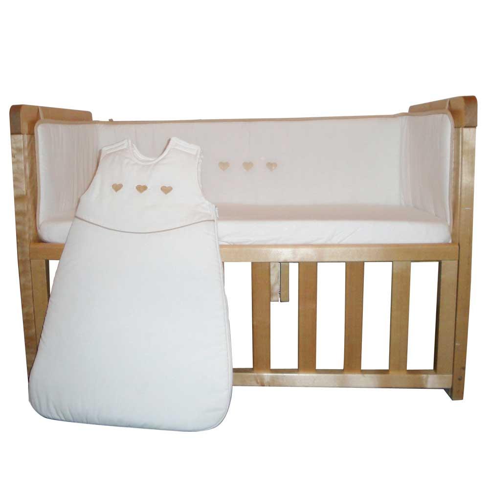 Lot tour de lit + sac nid pour berceau d\'allaitement Blanc de ...