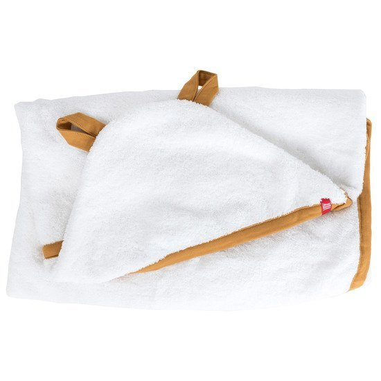 Cape de bain pure bio Blanc/Moutarde  de Vox