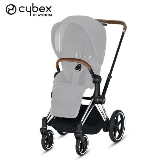 Châssis e-Priam  Chrome détails marrons  de Cybex
