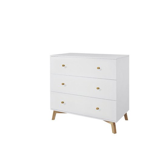 Fjord commode 3 tiroirs Blanc  de TWF (The Wood Factory)