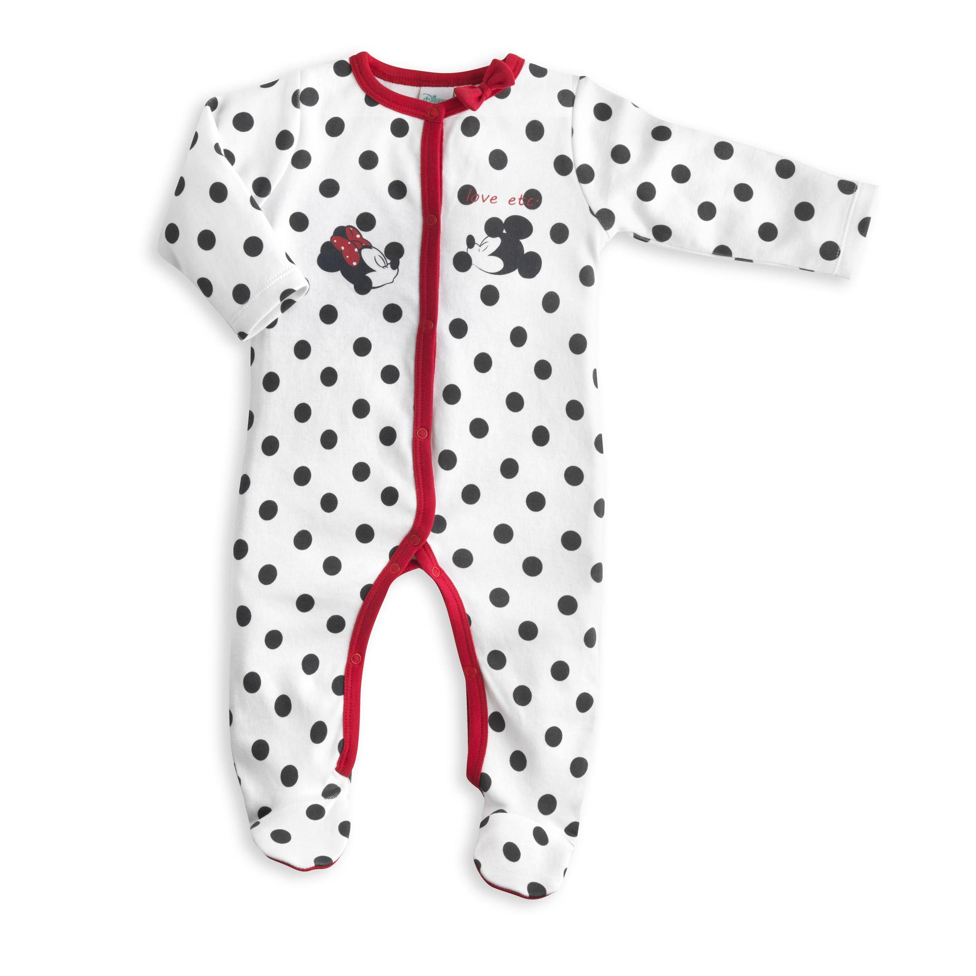 Aubert Et Baby De Pyjama Disney Baby Minnie Blanc Mickey Noir Owpzxw0dq