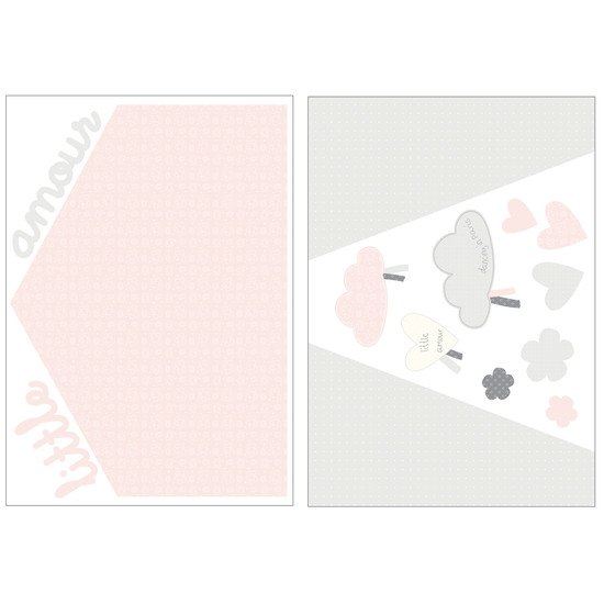 Lilibelle stickers muraux home 100x70