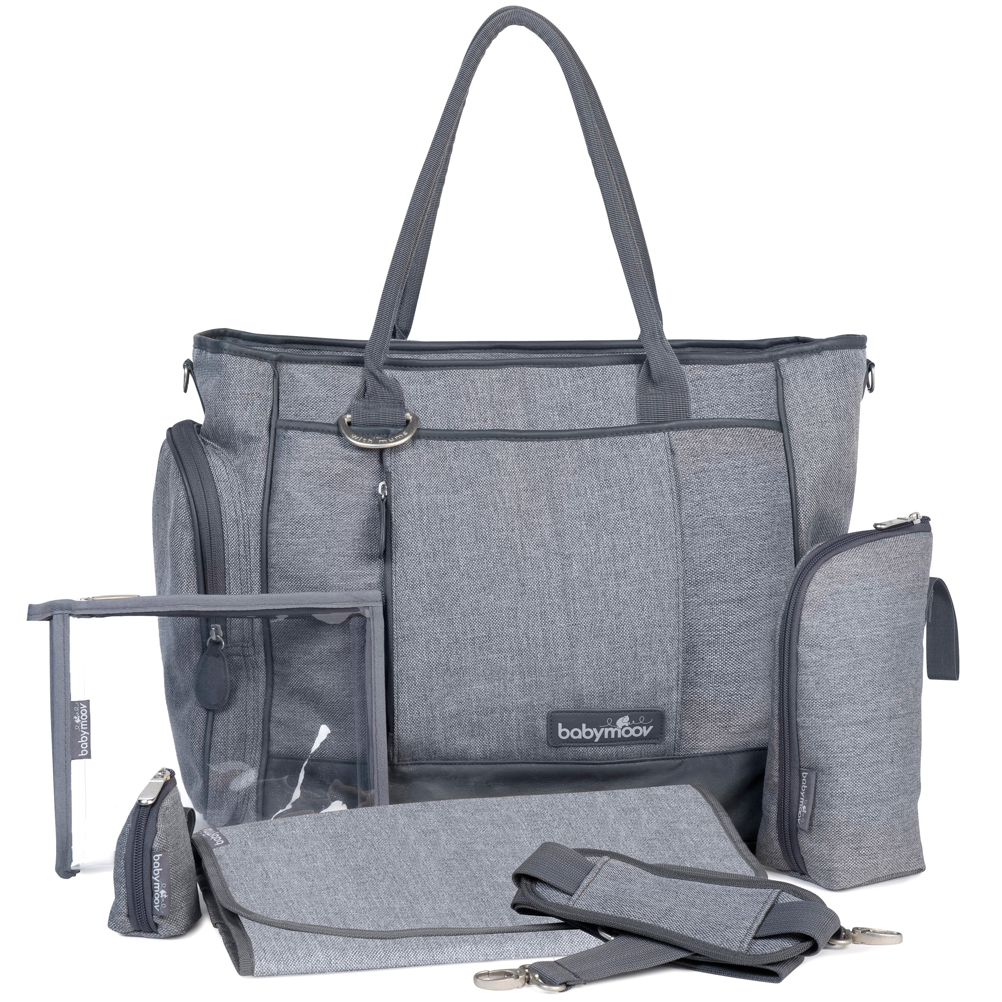 Sac essential bag Gris Smokey  de Babymoov