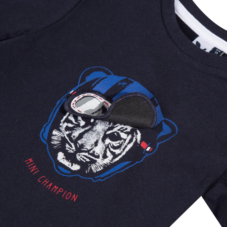 T-shirt pilote collection 3Pommes Hiver 2019 Navy  de 3pommes