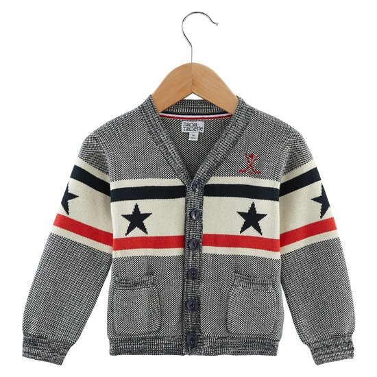 Cardigan USA collection Native American Boy Blue  de Nano & nanette
