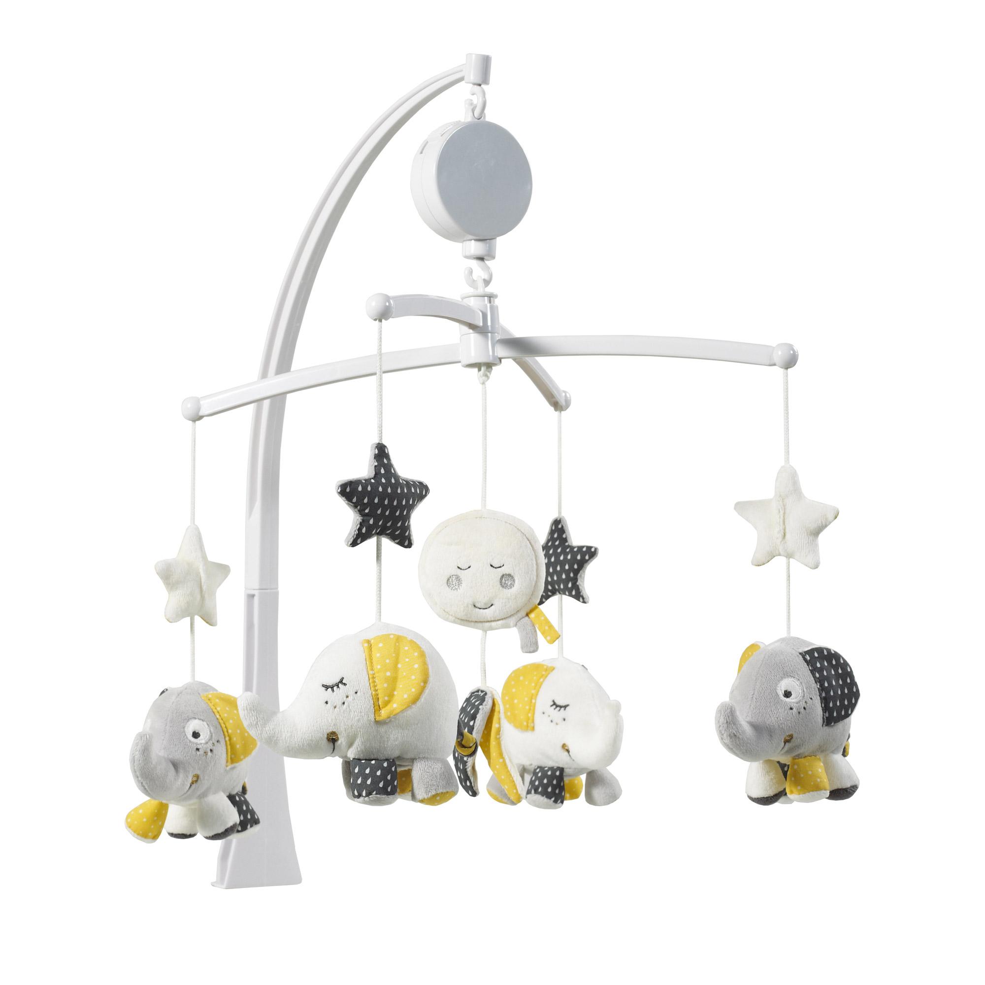 babyfan mobile musical gris de sauthon baby d co mobiles aubert. Black Bedroom Furniture Sets. Home Design Ideas