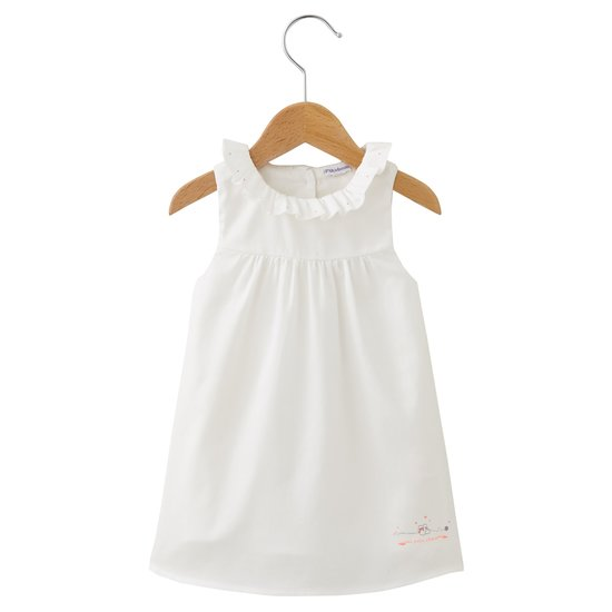Mini Rose robe sans manches Blanc  de P'tit bisou