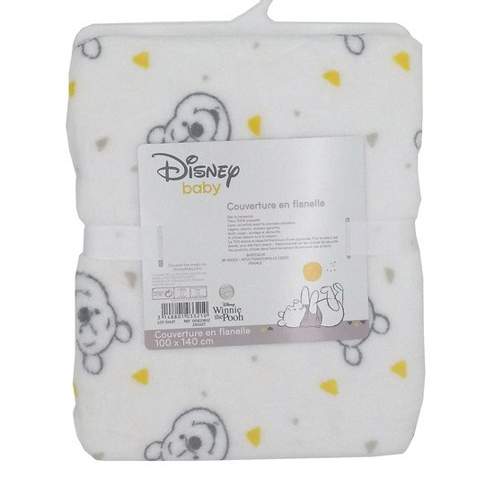 Winnie Let's Party couverture flanelle Blanc 100 x 140 cm de Disney Baby