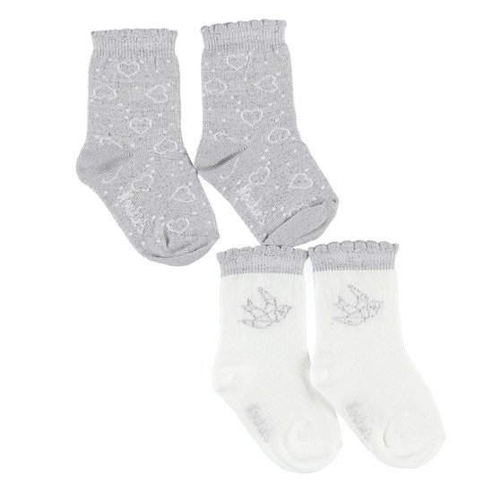 Lot de chaussettes Smart Girl Gris/Blanc  de Noukies