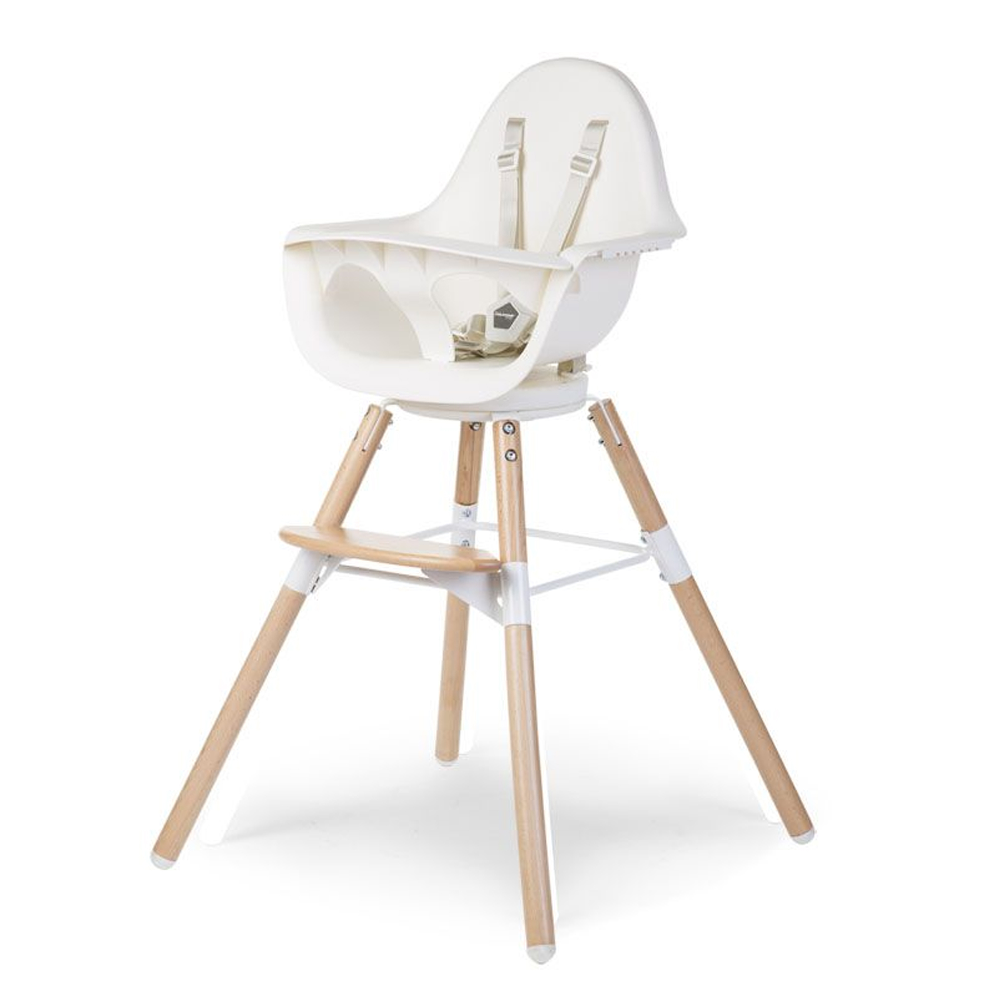 Chaise haute Evolu One 80° Naturel / Blanc   de Childhome
