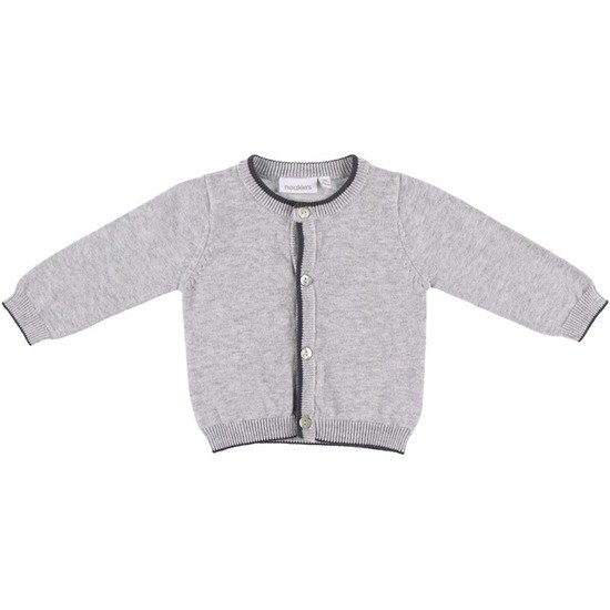 Cardigan tricot collection Cocon Gris  de Noukies