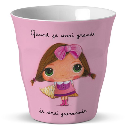 Verre en melamine Gourmande  de Label Tour