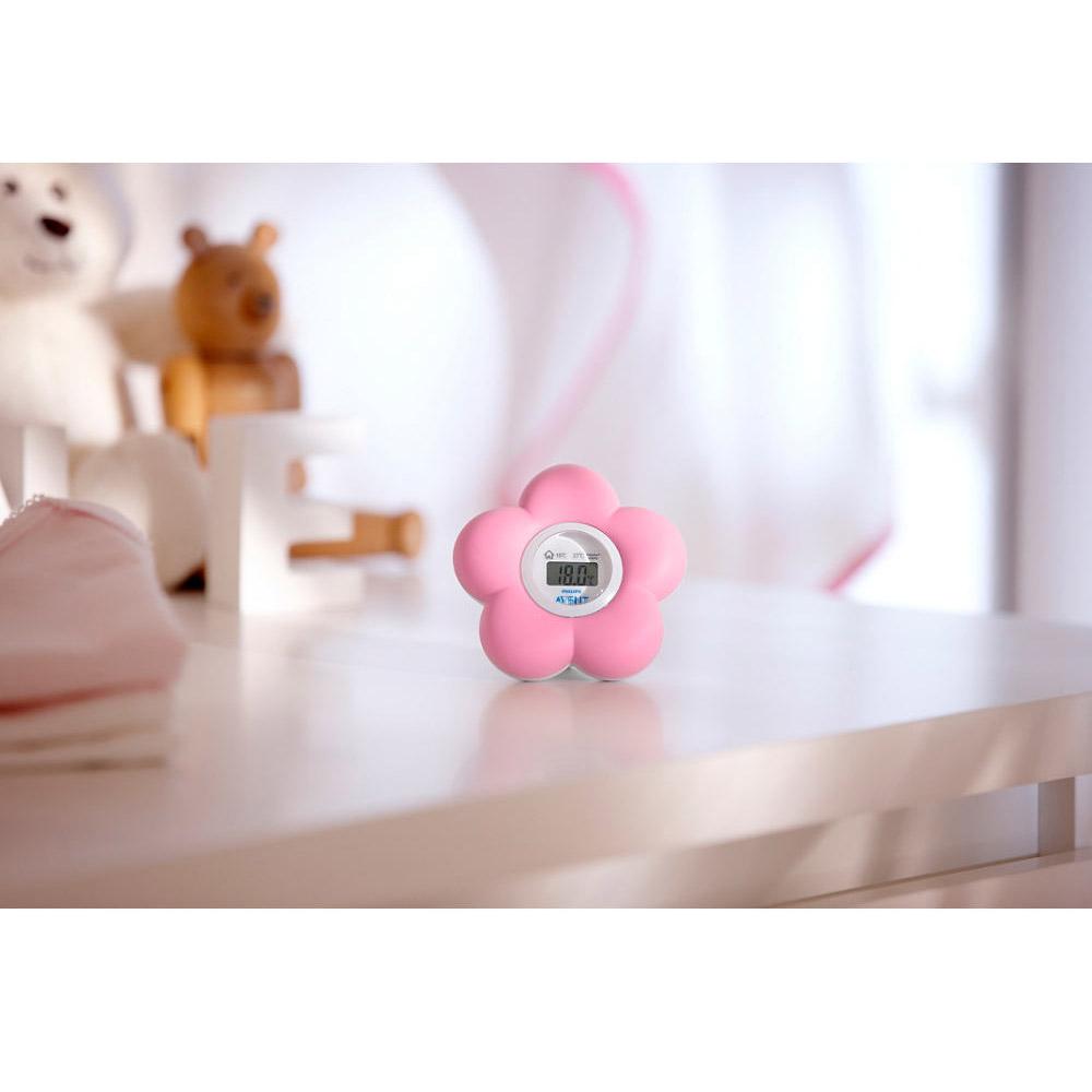 Thermomètre Fleur bain et chambre Rose  de Philips AVENT