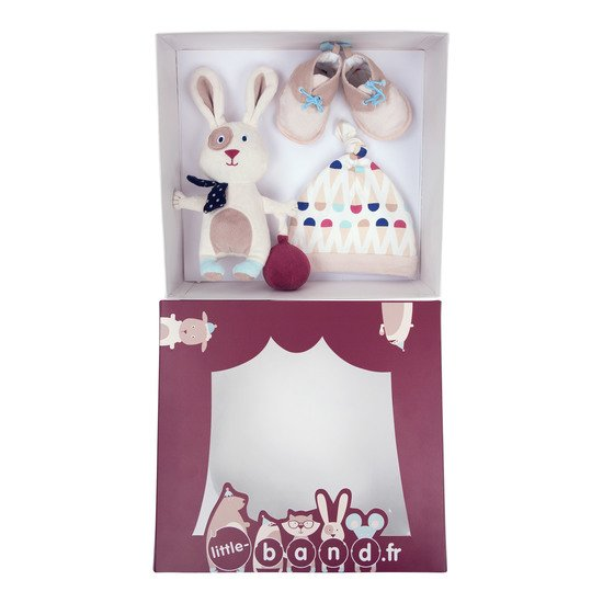 Balloon Company coffret peluche bonnet Beige  de Little Band