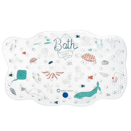 Grand tapis de bain thermosensible Water world bleu  de Bébé Confort