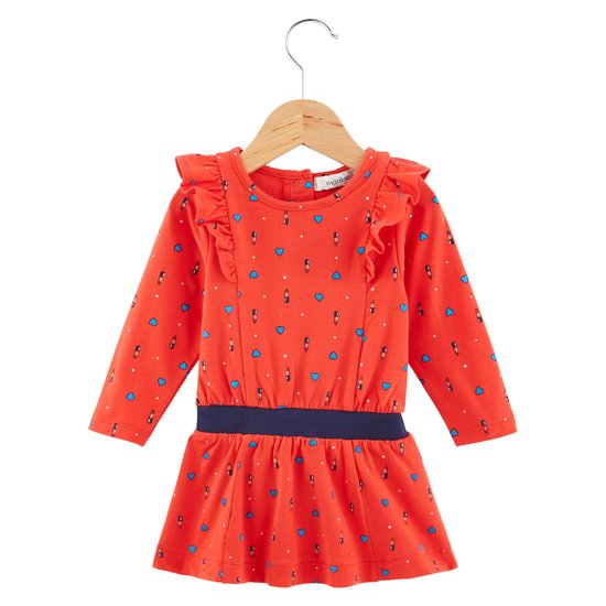 Robe Fille collection Marèse Pop Cargo Motif coeur rouge à lèvre  de Marèse