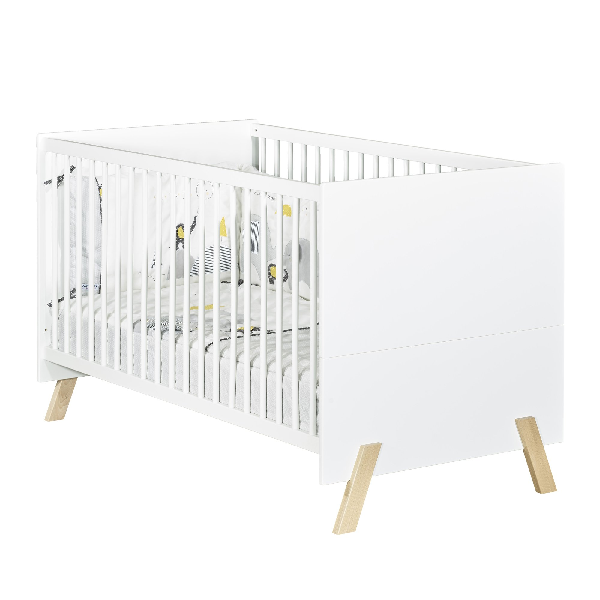 Natural Little Big Bed 70 x 140   de Sauthon Baby's Sweet Home