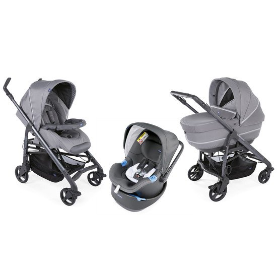 Trio Love Up Bebecare  Cool Grey   de Chicco