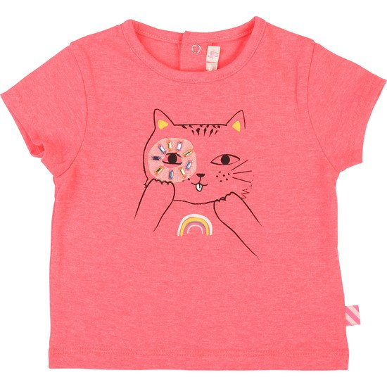 T-shirt en jersey Fille Collection Billieblush été 2019
