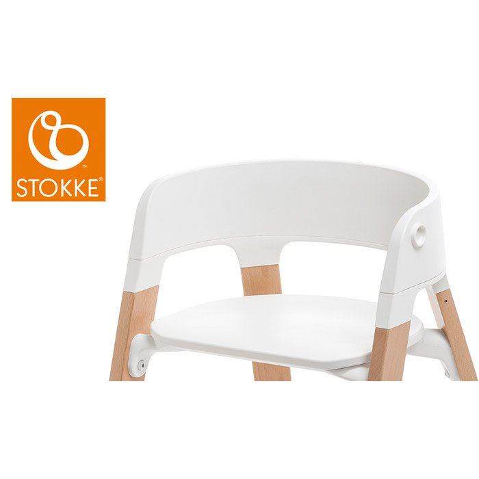 StepsTM Assise Chaise Blanc De StokkeR Chaises Hautes Volutives