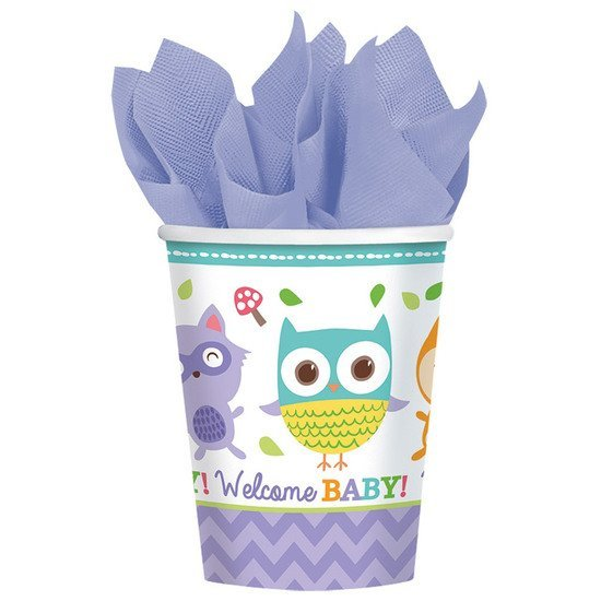 8 gobelets papier welcome little one