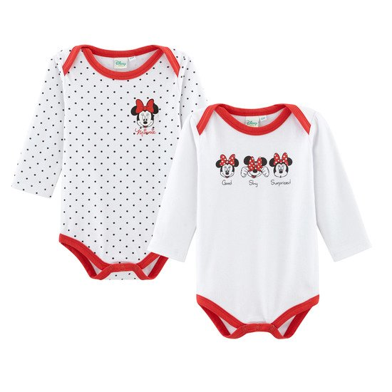 Minnie Lot de 2 bodies manches longues