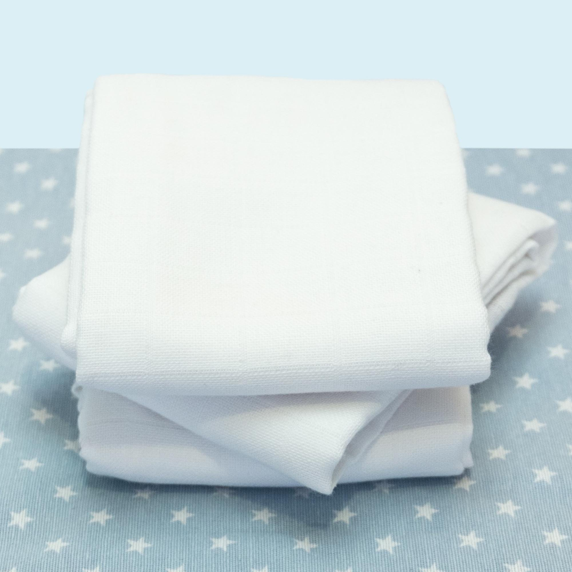 Set de 3 langes unis coton bio