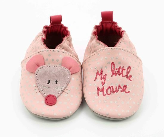 Chaussons little mouse Rose poudré  de Robeez