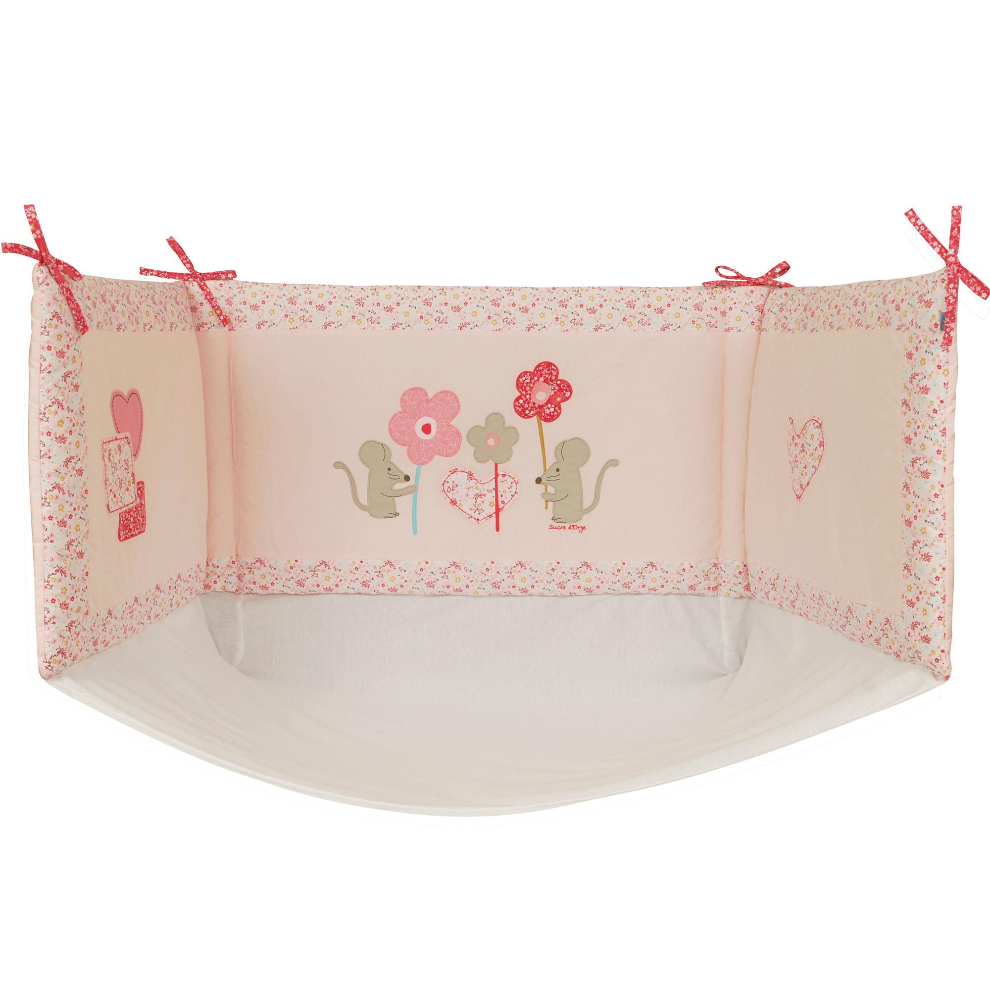 liberty girl tour de lit rose de sucre d 39 orge tours de lit aubert. Black Bedroom Furniture Sets. Home Design Ideas